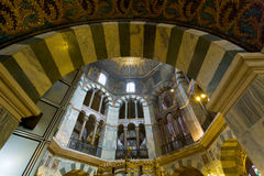 Interior of Aachen Cathedral Royalty Free Stock Image
