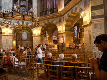 Interior of Aachen Cathedral, Germany Stock Images