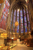 Interior of Aachen cathedral, Germany Stock Photo