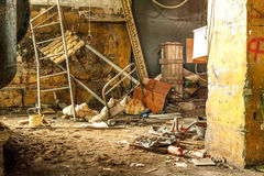 Interior abandonado Foto de archivo