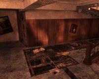 Interior abandonado, 3D CG Imagen de archivo libre de regalías