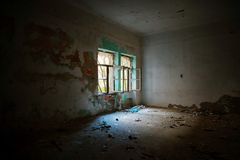 Interior abandonado de la casa Imagen de archivo