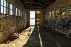Interior abandonado de la casa Foto de archivo libre de regalías