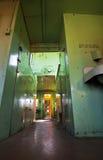 Interior abandonado del tren Fotografía de archivo
