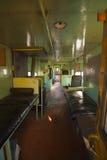 Interior abandonado del tren Imagenes de archivo
