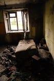 Interior abandonado do quarto Imagem de Stock