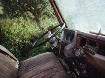 Interior of Abandoned Automobile Royalty Free Stock Image