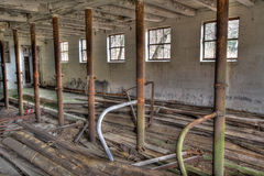 Interior of Abandoned Barn Royalty Free Stock Photo