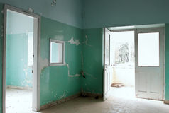 Interior on an abandoned building royalty free stock photography