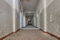 Corridor of an abandoned building Stock Photos