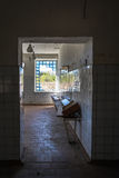 Interior of the abandoned building in Skrunda, Latvia Stock Photos