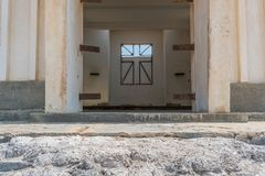 Interior of Abandoned church in the Namibe Desert. Angola, Churc Stock Photography
