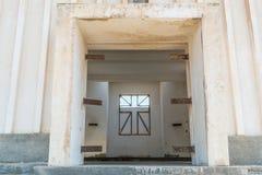 Interior of Abandoned church in the Namibe Desert. Angola, Churc Stock Photos