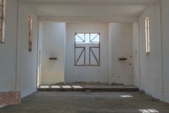 Interior of Abandoned church in the Namibe Desert. Angola, Churc Royalty Free Stock Images