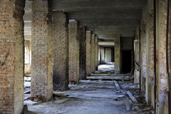 Interior of an abandoned construction. Lost city. The interior of an abandoned construction Stock Images