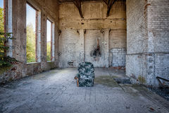 The interior of an abandoned factory Royalty Free Stock Photography