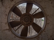 Interior abandoned fan. Photos taken outside the city Royalty Free Stock Photo