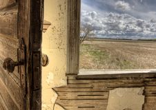 Interior abandoned house prairie Royalty Free Stock Image
