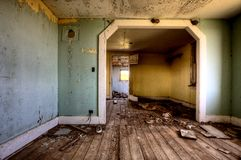 Interior abandoned house prairie Royalty Free Stock Photo