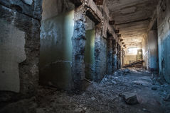 Interior of abandoned jailhouse Royalty Free Stock Images