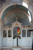 Interior of abandoned orthodox church, Greece Royalty Free Stock Photos