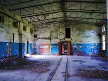 Interior of an abandoned Soviet military base Stock Photos