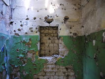 Interior of an abandoned Soviet military base. Latvia Royalty Free Stock Images