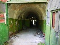 Interior of an abandoned Soviet military base Royalty Free Stock Photo