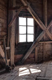 Interior of an abandoned wooden house Royalty Free Stock Photo