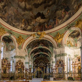 Interior of Abbey Cathedral in St.Gallen Stock Photography