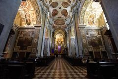 Church Interior, Stift Klosterneuburg, Donau Niederosterreich, Austria stock images