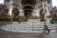 Interior  Abbey of Saint Gall in St. Gallen Royalty Free Stock Image