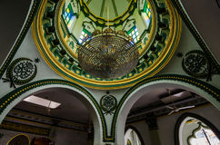 Interior of Abdul Gaffoor Mosque. A mosque in Singapore constructed in year 1907. The mosque located in the area known as Little India, which was an active Royalty Free Stock Photography
