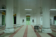 Interior of The Abidin Mosque in Kuala Terengganu, Malaysia Royalty Free Stock Photography