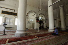 Interior of The Abidin Mosque in Kuala Terengganu, Malaysia Royalty Free Stock Images