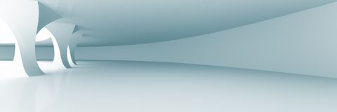 Interior abstracto blanco foto de archivo libre de regalías
