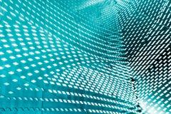 Interior abstracto 3d con el modelo poligonal en la pared Foto de archivo libre de regalías