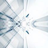 Interior abstracto de la tecnología representación 3d stock de ilustración