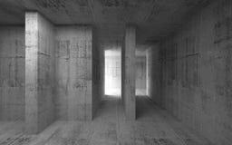 Interior abstracto oscuro vacío del hormigón 3d Foto de archivo
