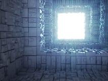 Interior abstrato da ficção científica 3d Foto de Stock
