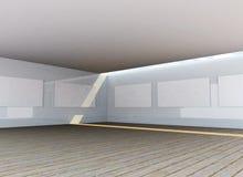 Interior abstrato da galeria Ilustração Stock