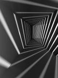 Interior abstrato da obscuridade 3d com feixes luminosos Fotos de Stock Royalty Free