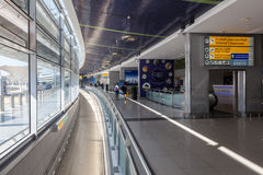 Interior of the Abu Dhabi International Airport Stock Photo