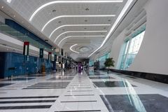 Interior of Abu Dhabi National Exhibition Center (ADNEC) royalty free stock photography