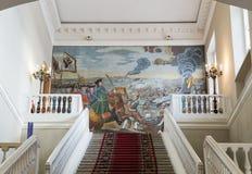 Interior of the Academy of Sciences, St. Petersburg. SAINT-PETERSBURG, RUSSIA - NOVEMBER 08, 2017: Interior of the Academy of Sciences. Mosaic painting by MV Stock Photo