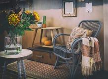 Interior acogedor del otoño Fotos de archivo