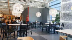 Interior acolhedor do restaurante Foto de Stock Royalty Free