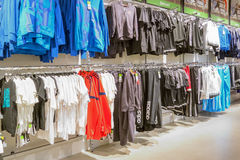 Interior of Adidas store Royalty Free Stock Images
