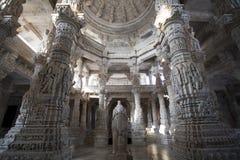 Interior of the Adinatha Temple in Ranakpur Royalty Free Stock Photos