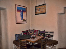 Interior of Adobe Building in Santa Fe New Mexico USA Stock Photography